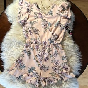 NWT Girls Ally B Pink Floral Romper